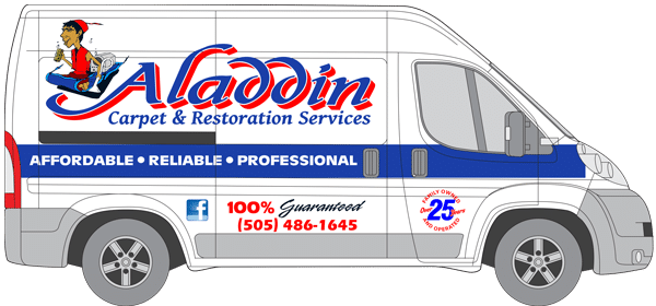 Aladdin Carpet Cleaning & Restoration van